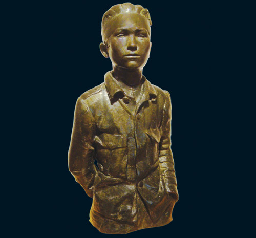 Josep Viladomat - Sculpting pain - Young Red militiaman
